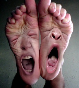 crying feet